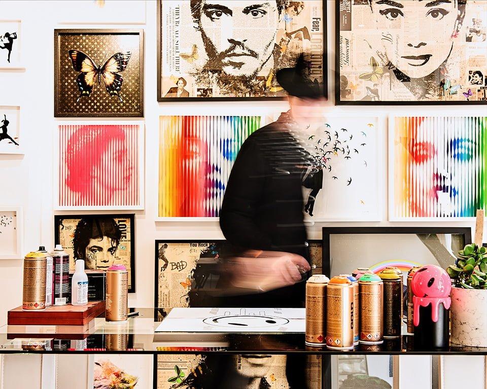 Artist VeeBee in her Brighton Studio for Saatchi Gallery