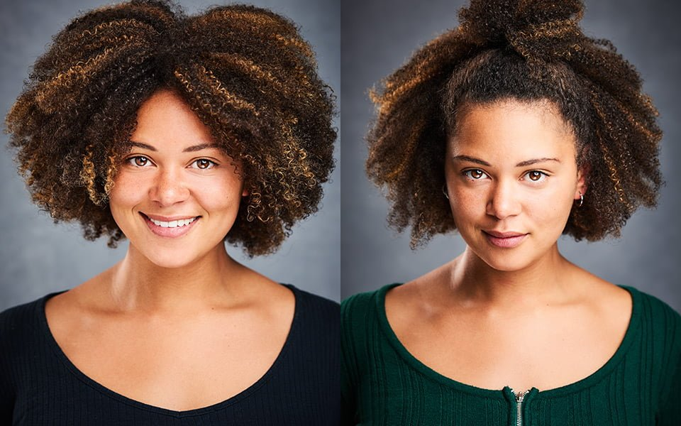 beautiful actress headshots brighton london curly hair