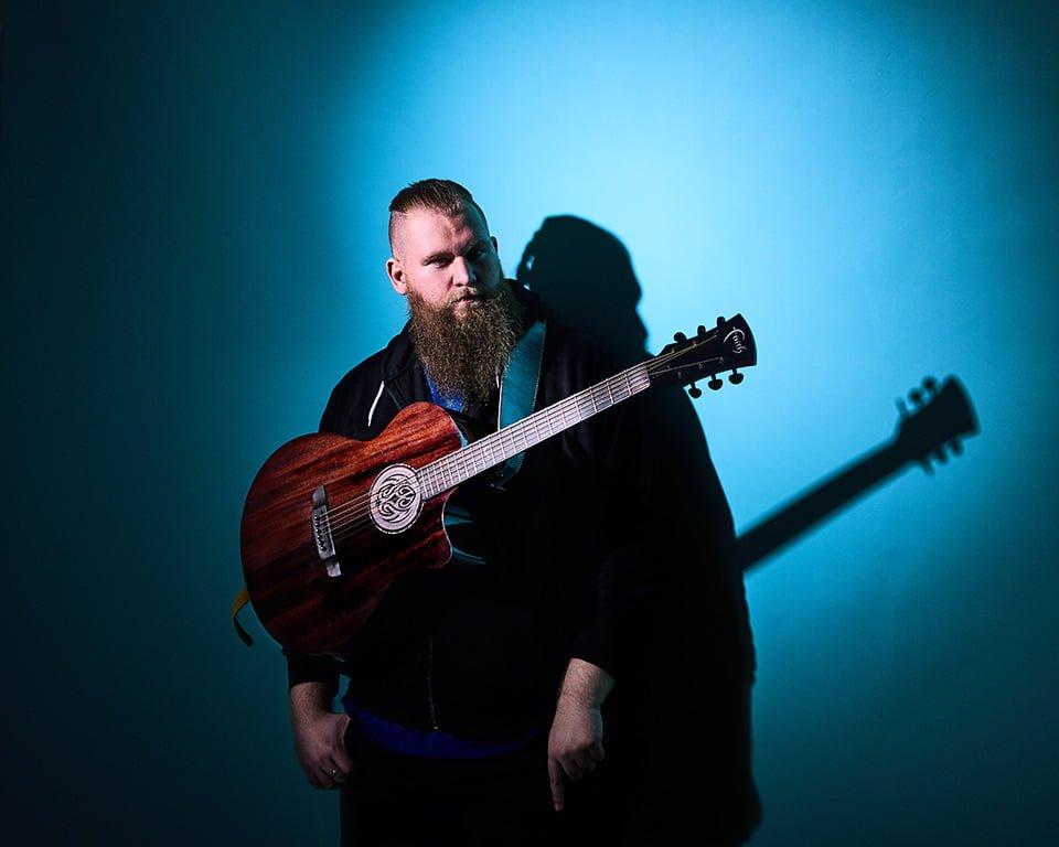 portrait of singer guitarist brighton