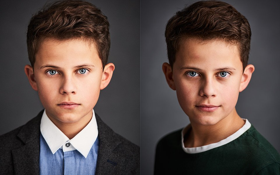child headshots actor photographer brighton