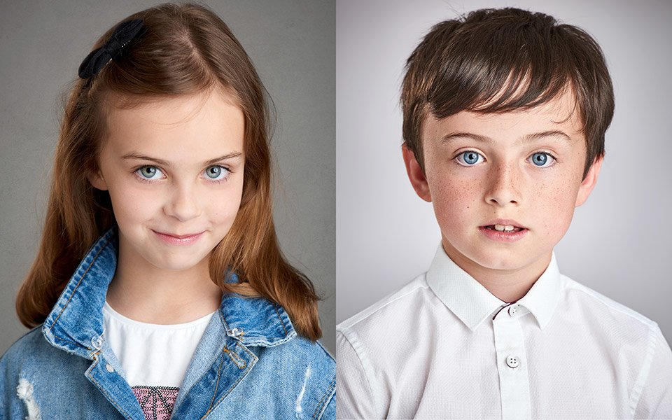 children headshots actors performers brighton