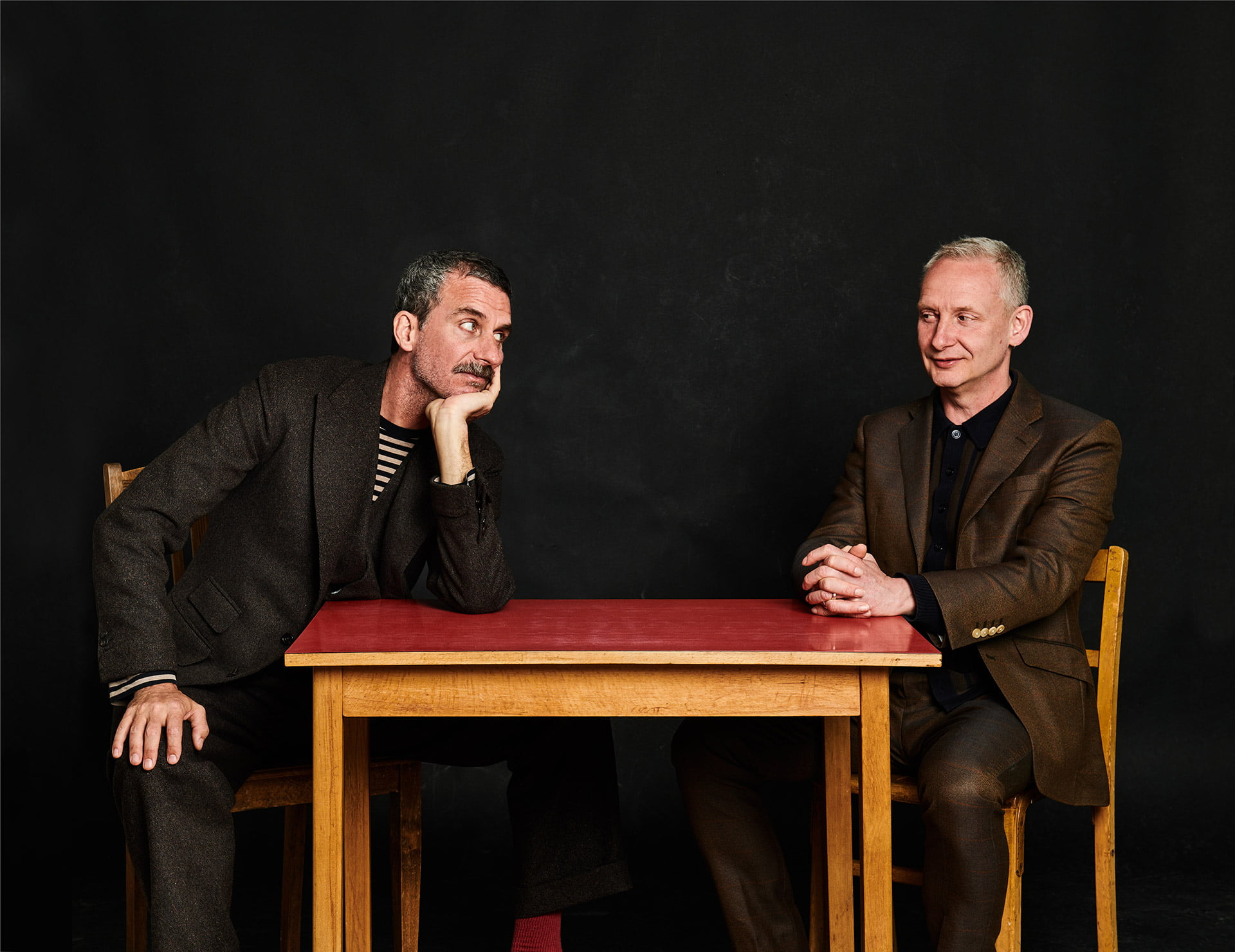 Portrait of Paul Hartnoll and Murray Lachlan Young in Brighton